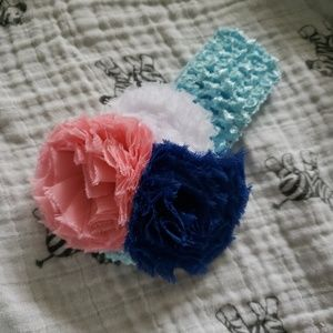 Other - Flower crochet headband.